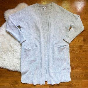 Old Navy Gray Long Pocket Cardigan